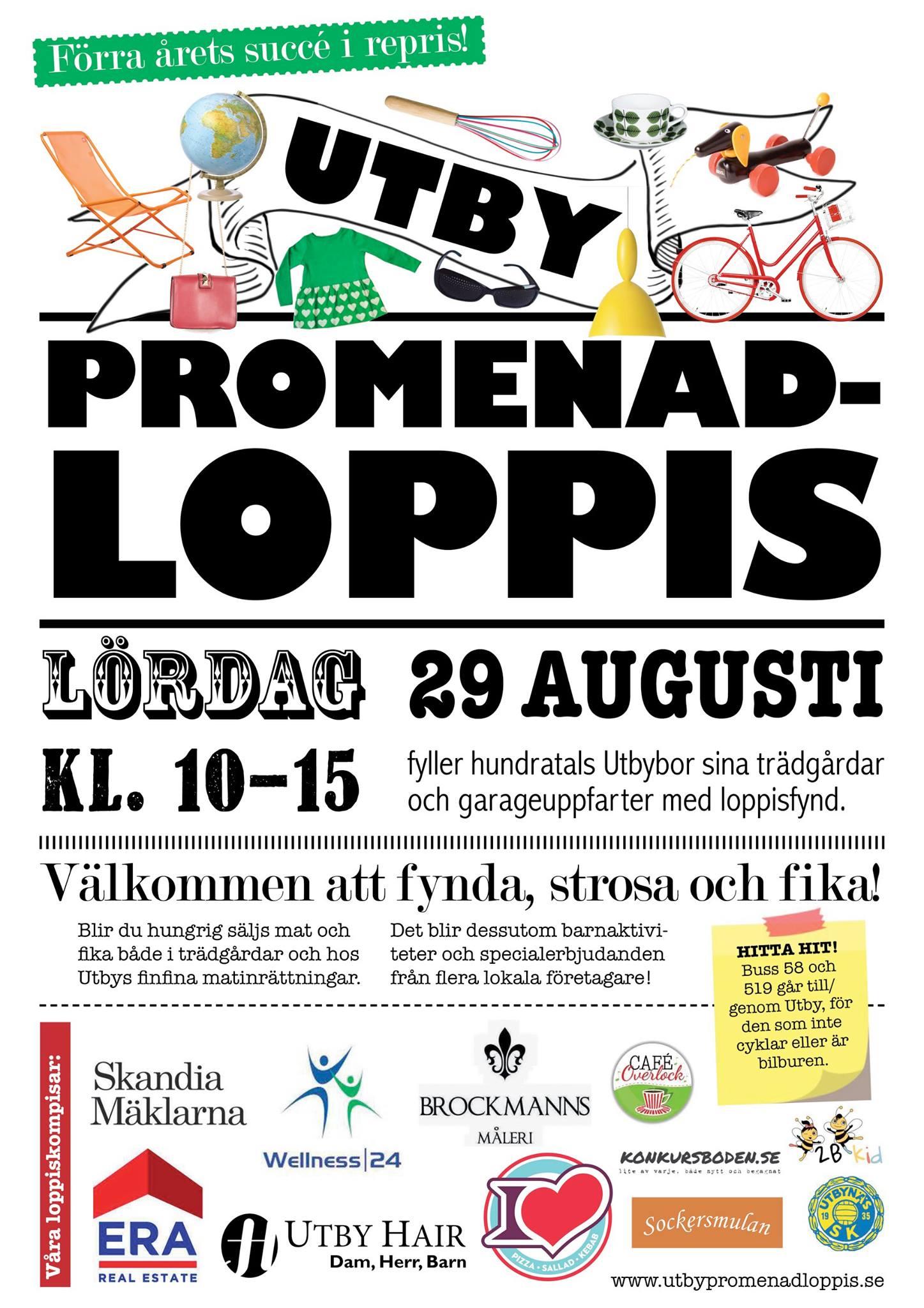 Affisch - Utby Promenadloppis 2015